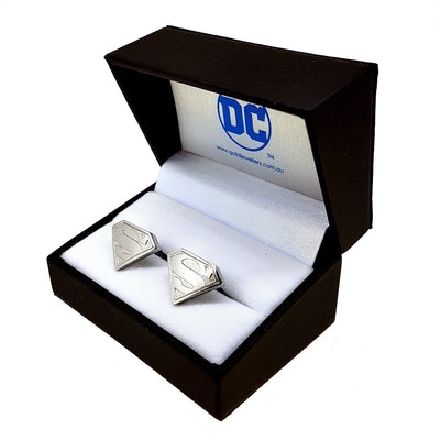 Superman Cufflinks Silver Novelty Cufflinks DC Comics Superman Cufflinks Silver