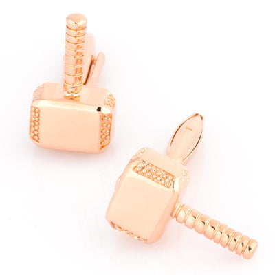 Thor Style Hammer Cufflinks Rose Gold Novelty Cufflinks Clinks Australia