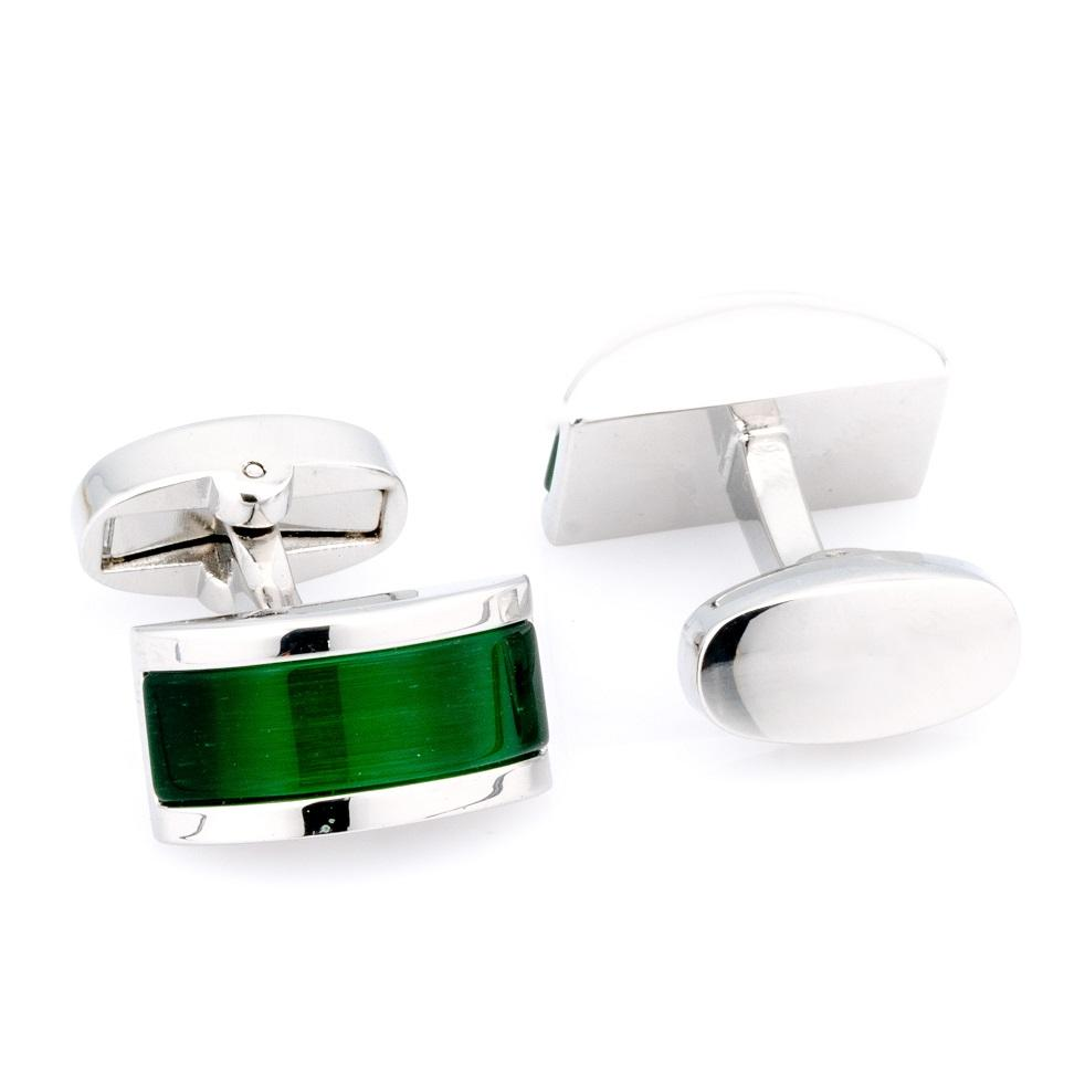 Green Cateye Cufflinks Classic & Modern Cufflinks Clinks Australia Default