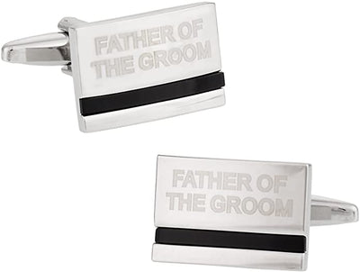 Father of the Groom Laser Etched Onyx Silver Cufflinks Wedding Cufflinks Clinks Australia Father of the Groom Laser Etched Onyx Silver Cufflinks