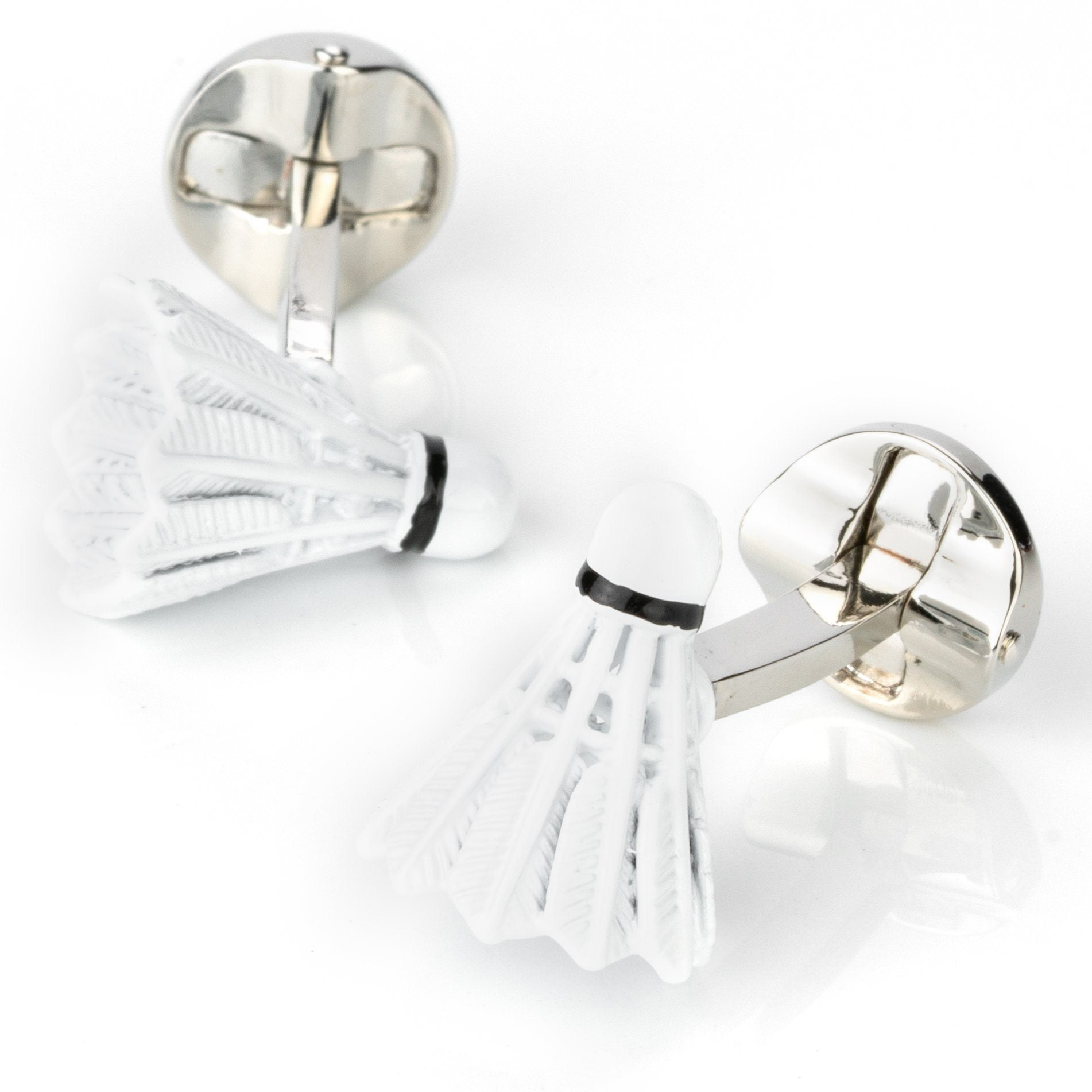 Badminton Shuttlecock Cufflinks , Novelty Cufflinks , CL4328 , Mens Cufflinks , Cufflinks , Cuffed , Clinks , Clinks Australia