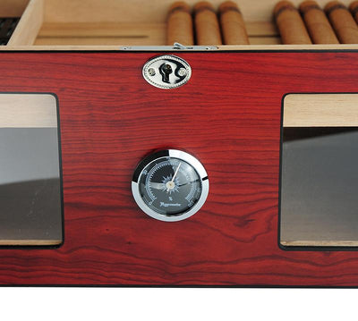 120 CT Brown Cigar Humidor Spanish Cedar Box for Cigars Cigar Boxes Clinks Australia