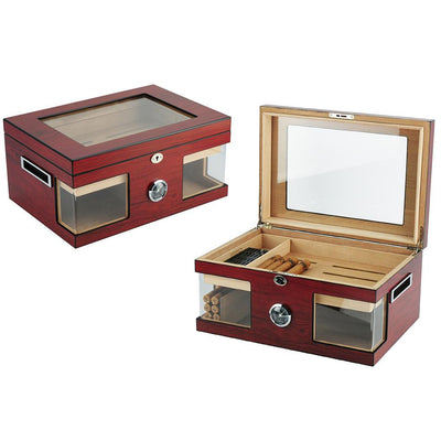 120 CT Brown Cigar Humidor Spanish Cedar Box for Cigars Cigar Boxes Clinks Australia Default