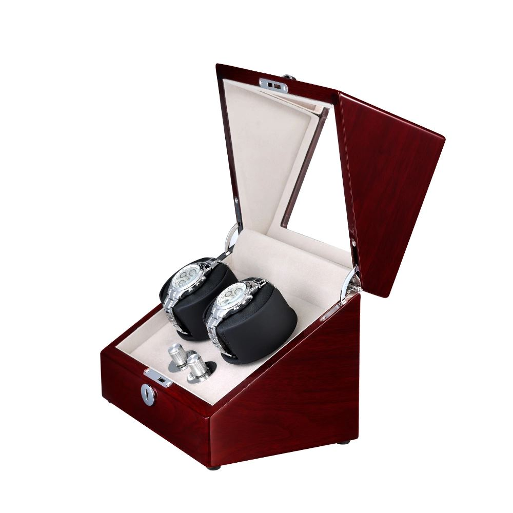 Mahogany Watch Winder Box for 2 Watches Variants Watch Winder Boxes Clinks Australia Default