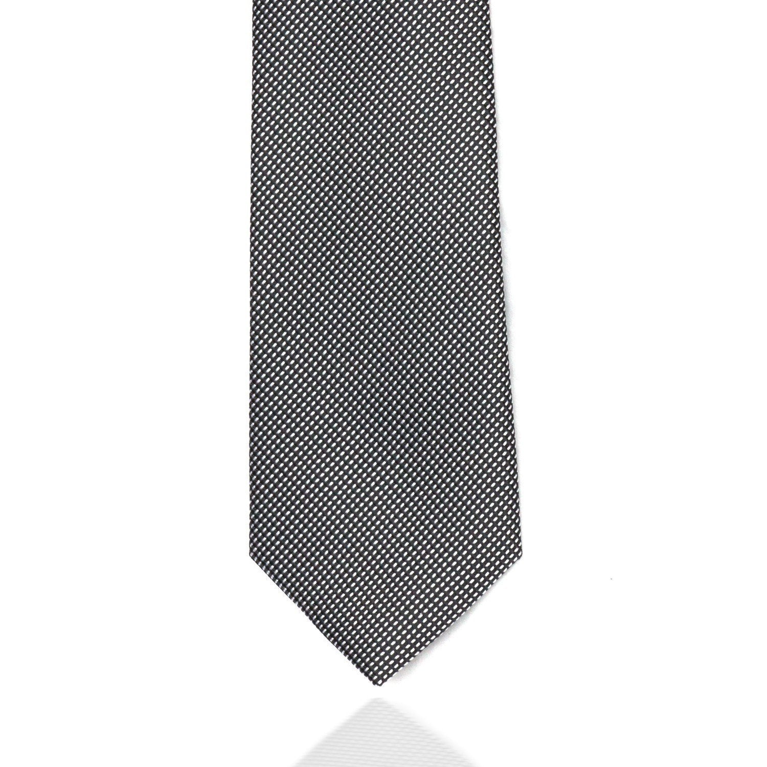 Silver and Black Weave MF Tie Ties Cuffed.com.au