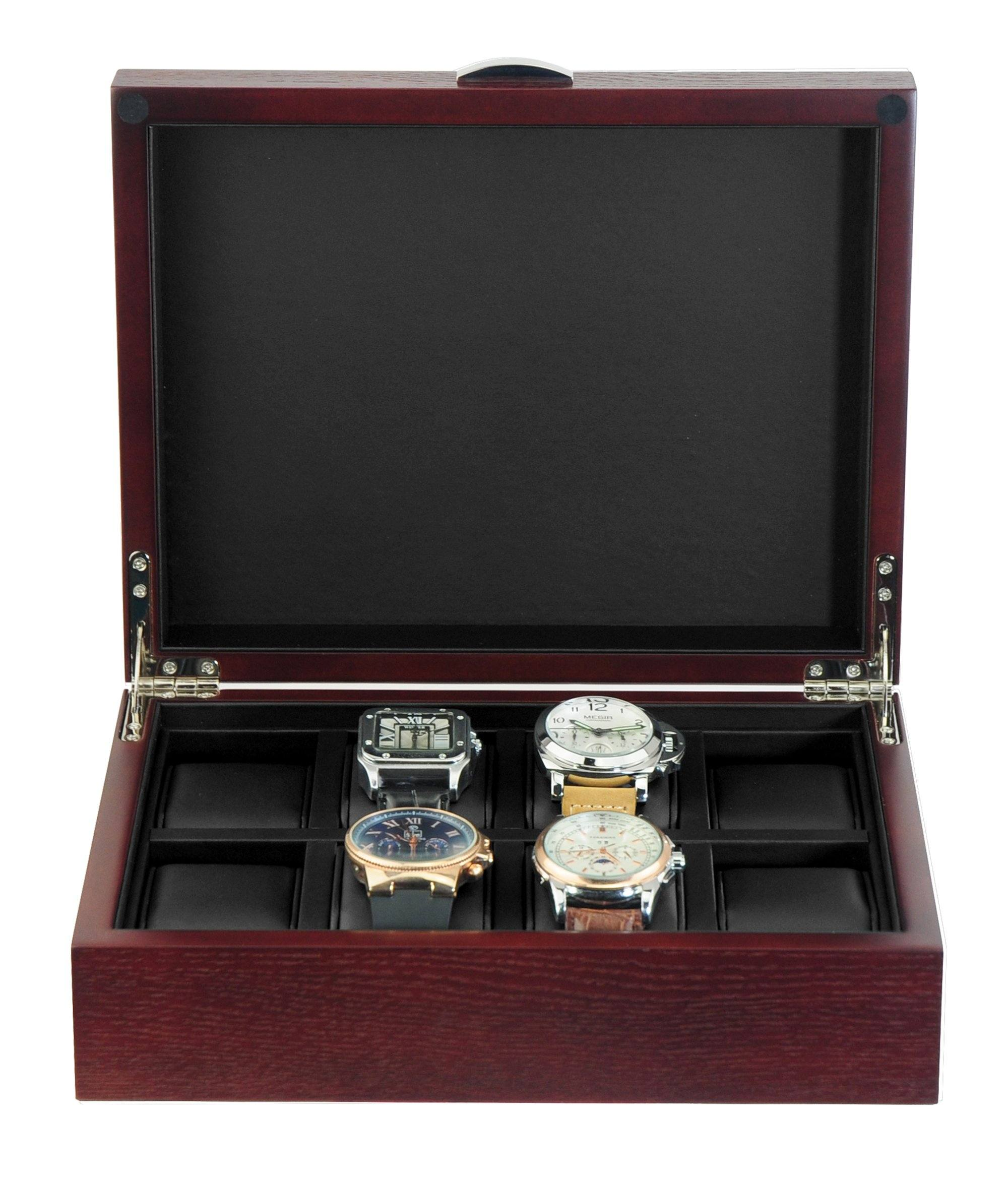 Natural Cherry Wooden Watch Box for 8 Watches Watch Boxes Clinks Australia Default