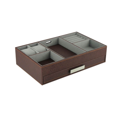 Executive Valet Tray in Brown