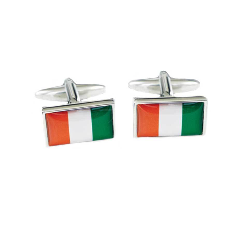 Irish Flag Cufflinks - Flag of Ireland Novelty Cufflinks Clinks Australia Default