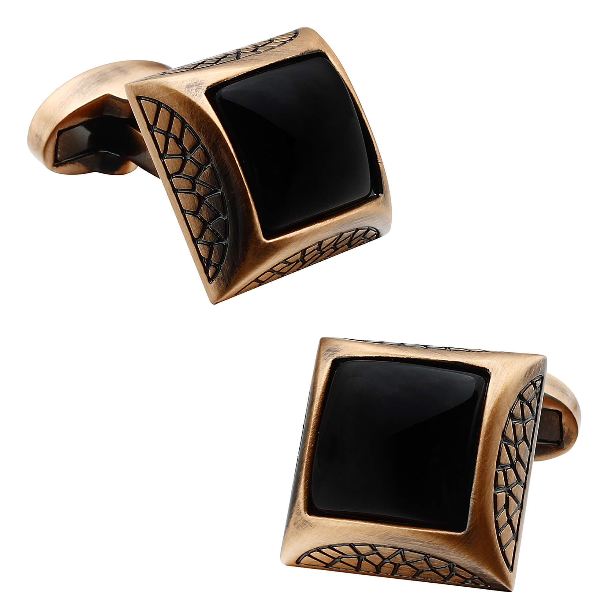 Onyx in Antique Copper Cufflinks Classic & Modern Cufflinks Clinks Australia Default