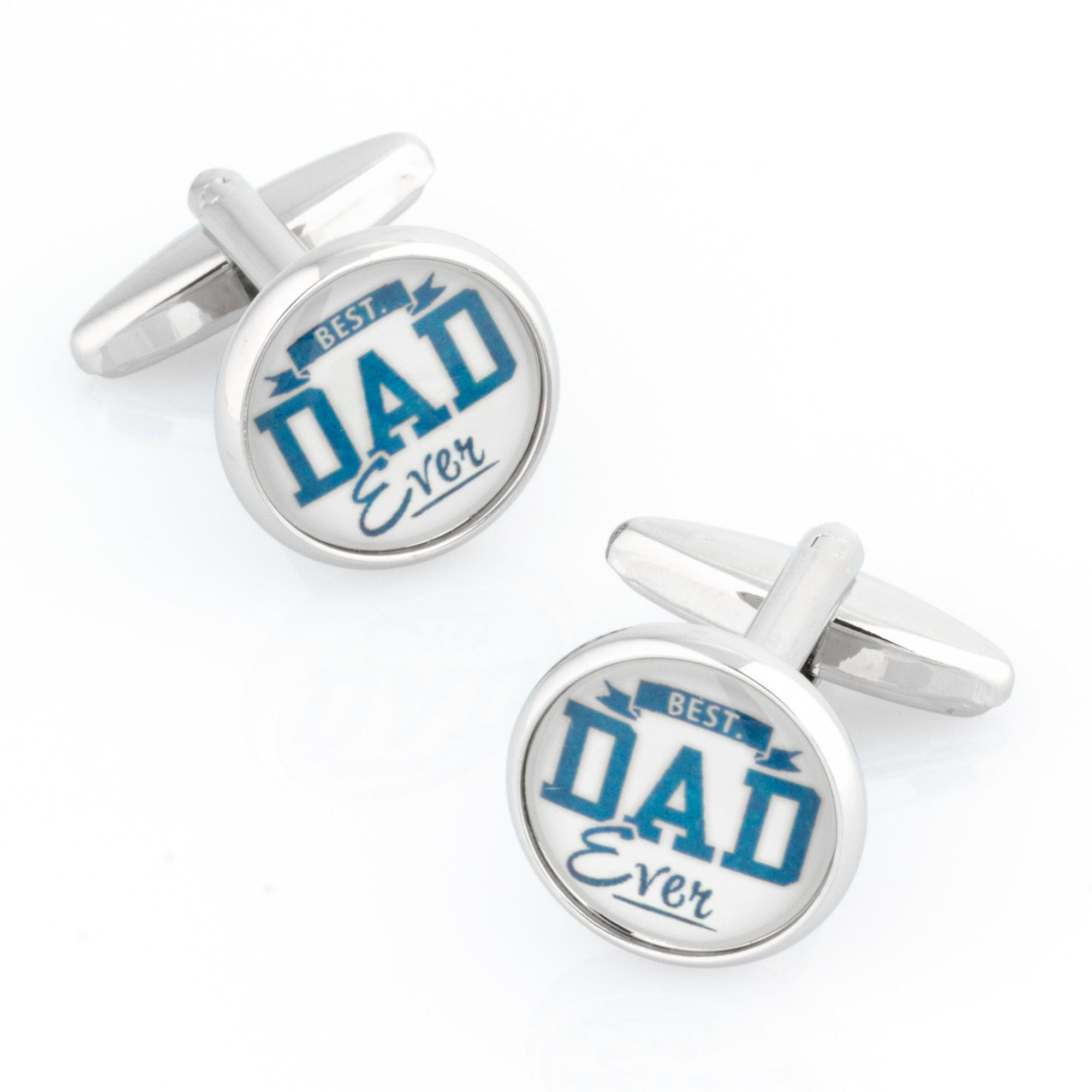 Best Dad Ever Round Cufflinks , Novelty Cufflinks , CL8445 , Mens Cufflinks , Cufflinks , Cuffed , Clinks , Clinks Australia