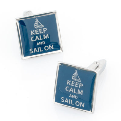 Keep Calm and Sail On Cufflinks Novelty Cufflinks Clinks Australia Keep Calm and Sail On Cufflinks