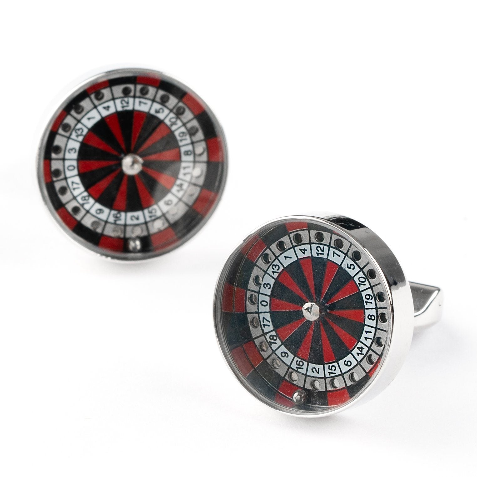 Roulette Wheel & Ball Cufflinks Novelty Cufflinks Clinks Australia