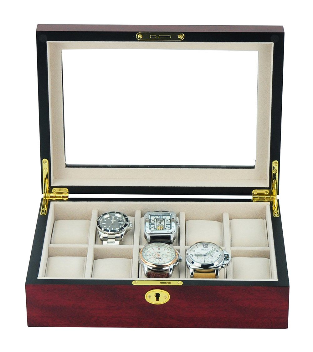 Wooden Watch Box for 10 Storage Boxes Clinks Australia