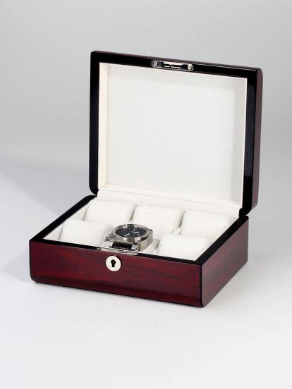 Cherry Wooden Watch Box for 6 Watches Storage Boxes Clinks Australia