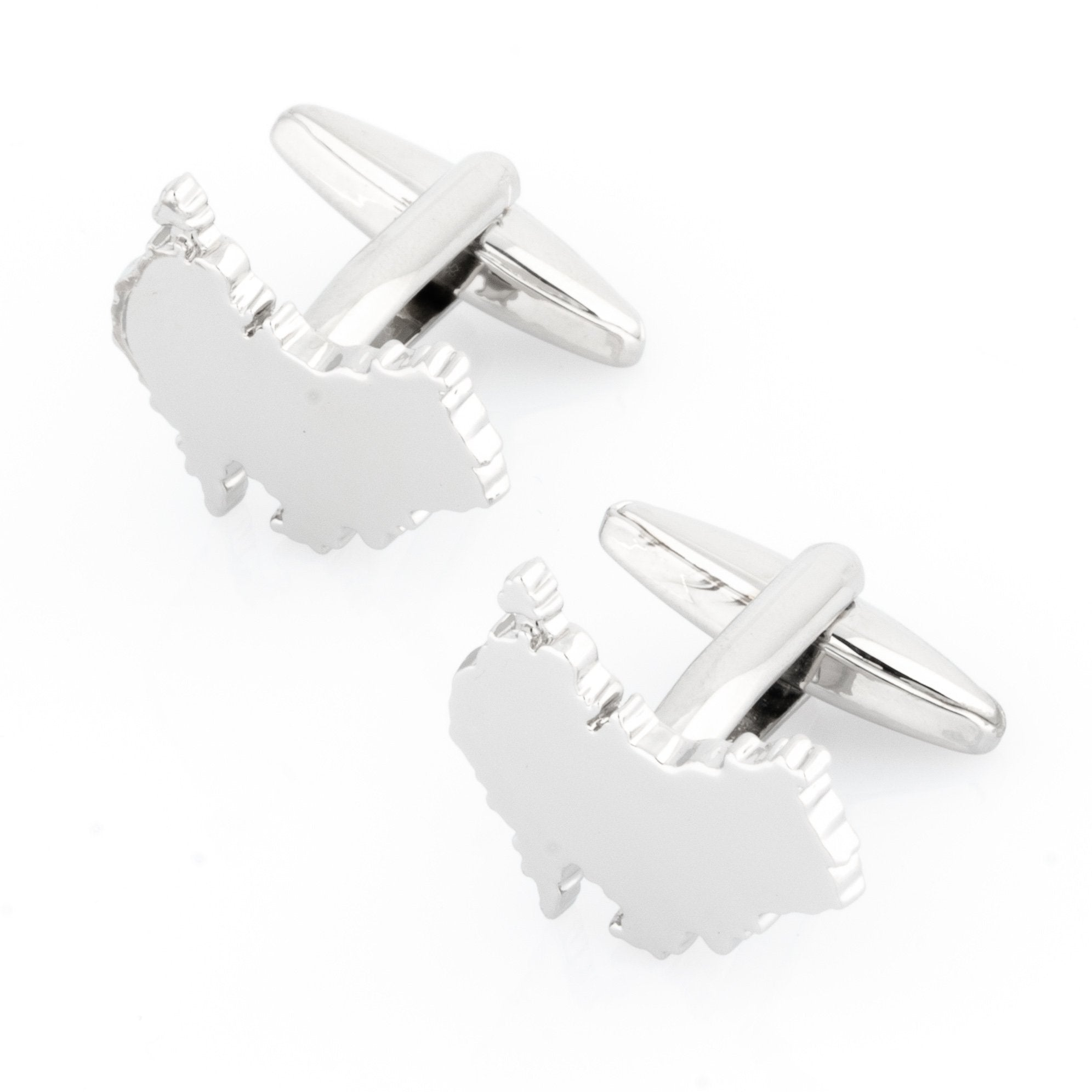 Outline Australian Map Cufflinks Novelty Cufflinks Clinks Australia Outline Australian Map Cufflinks