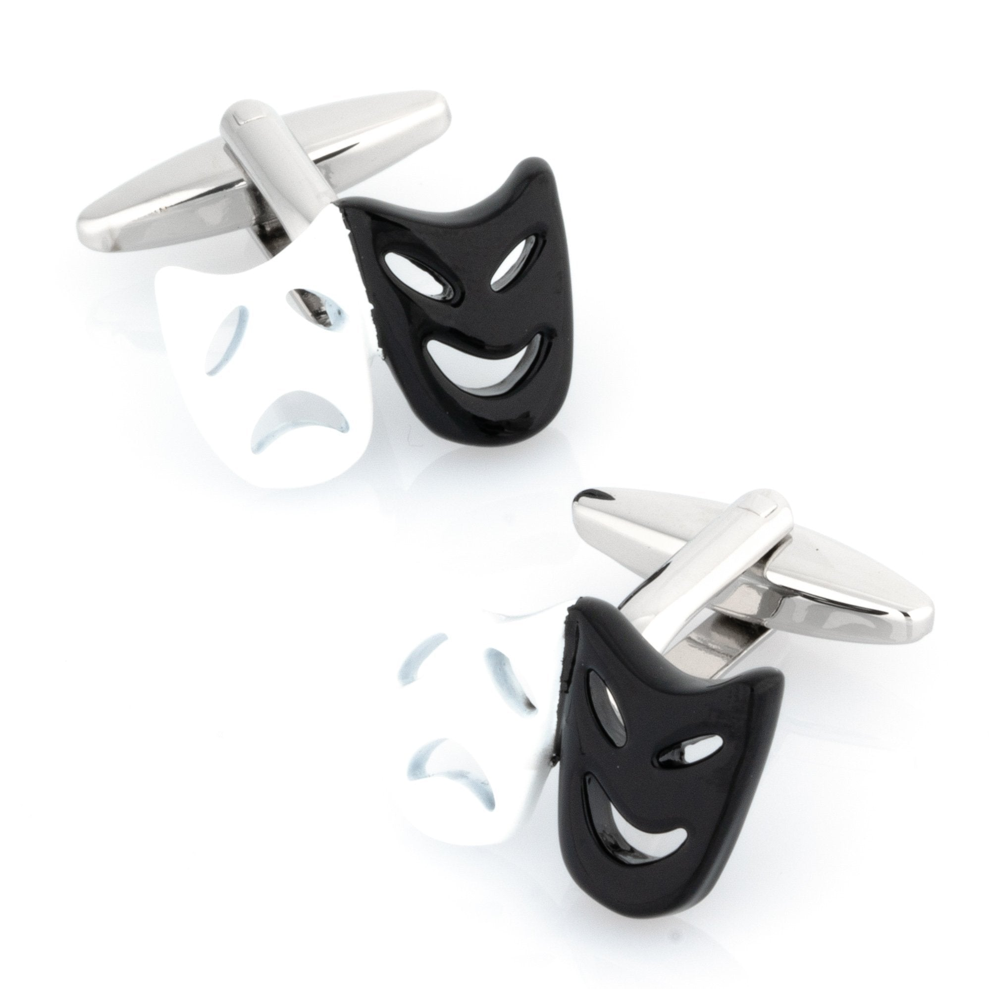 Black and White Mask Cufflinks, Novelty Cufflinks, CL8210, Mens Cufflinks, Cufflinks, Cuffed, Clinks , Clinks Australia
