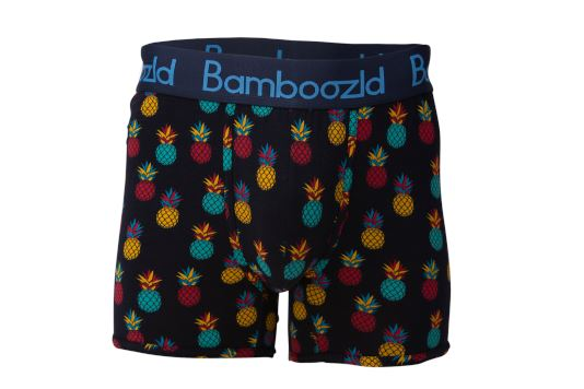 Mens Underwear Trunk - Playful Pineapple Underwear Bamboozld Small 80-85cm