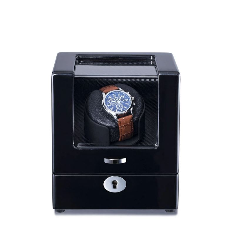 Watch Winder Box for 1 in Black Watch Winder Boxes Clinks Australia