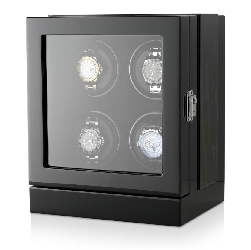 Watch Winder Box for 4 Watches in Black Watch Winder Boxes Clinks Australia
