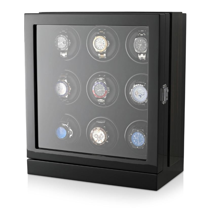 Watch Winder Box for 9 Watches in Black Watch Winder Boxes Clinks Australia