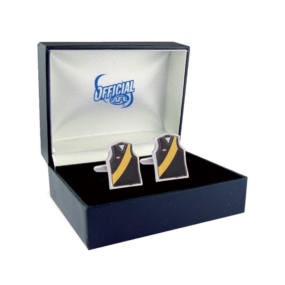 Richmond Tigers Guernsey Cufflinks Novelty Cufflinks AFL Default