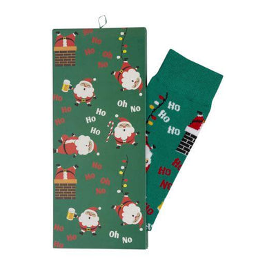Xmas Ho Ho Sock with Card Socks Bamboozld