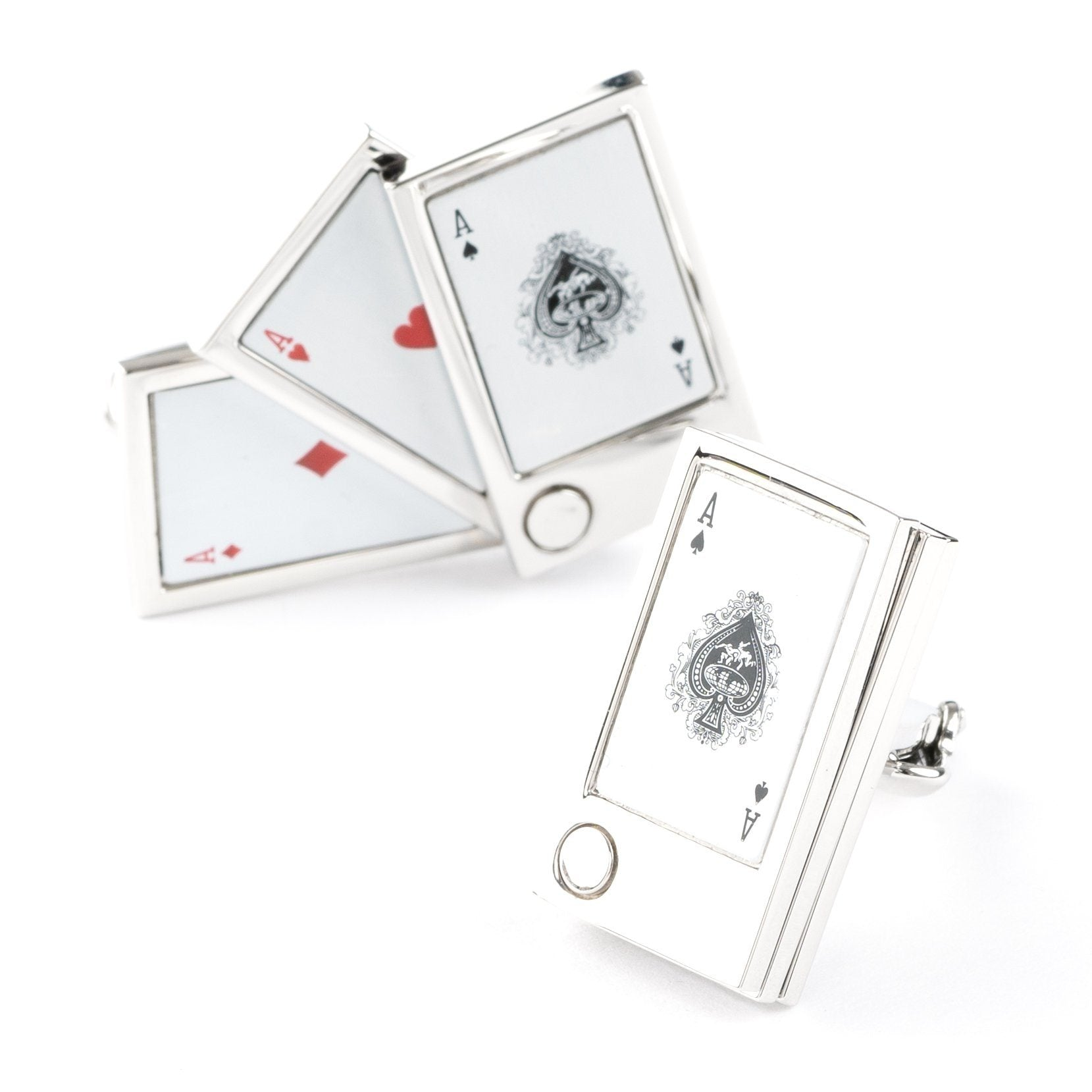 """Flip Out"" Playing Cards Cufflinks , Novelty Cufflinks Clinks Australia , CL6205 , Mens Cufflinks , Cufflinks , Clinks , Cuffed"