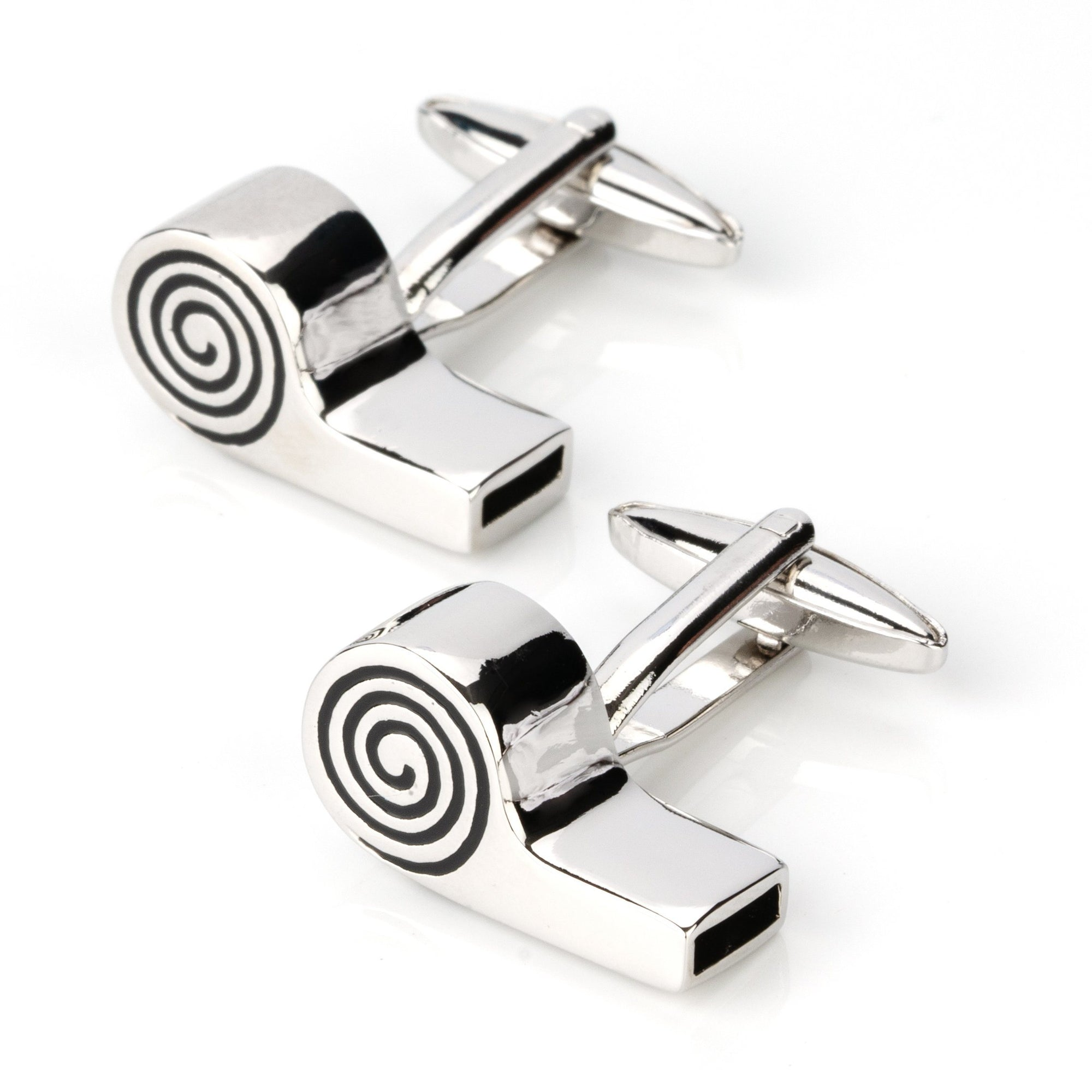 Working Referee Whistle Cufflinks, Novelty Cufflinks, Cuffed.com.au, CL4290, Functional, Sports, Clinks Australia