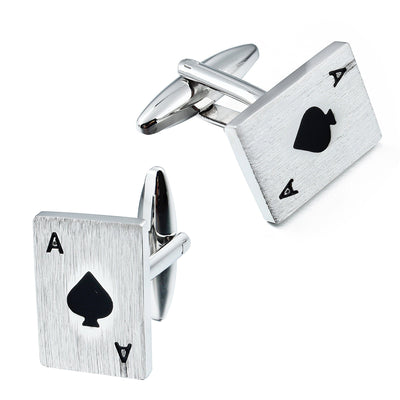 Ace of Spades Cufflinks Novelty Cufflinks Clinks Australia Ace of Spades Cufflinks