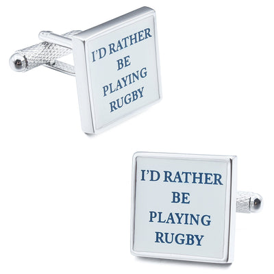 I'd rather be Playing Rugby Cufflinks Novelty Cufflinks Clinks Australia I'd rather be Playing Rugby Cufflinks