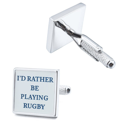 I'd rather be Playing Rugby Cufflinks Novelty Cufflinks Clinks Australia