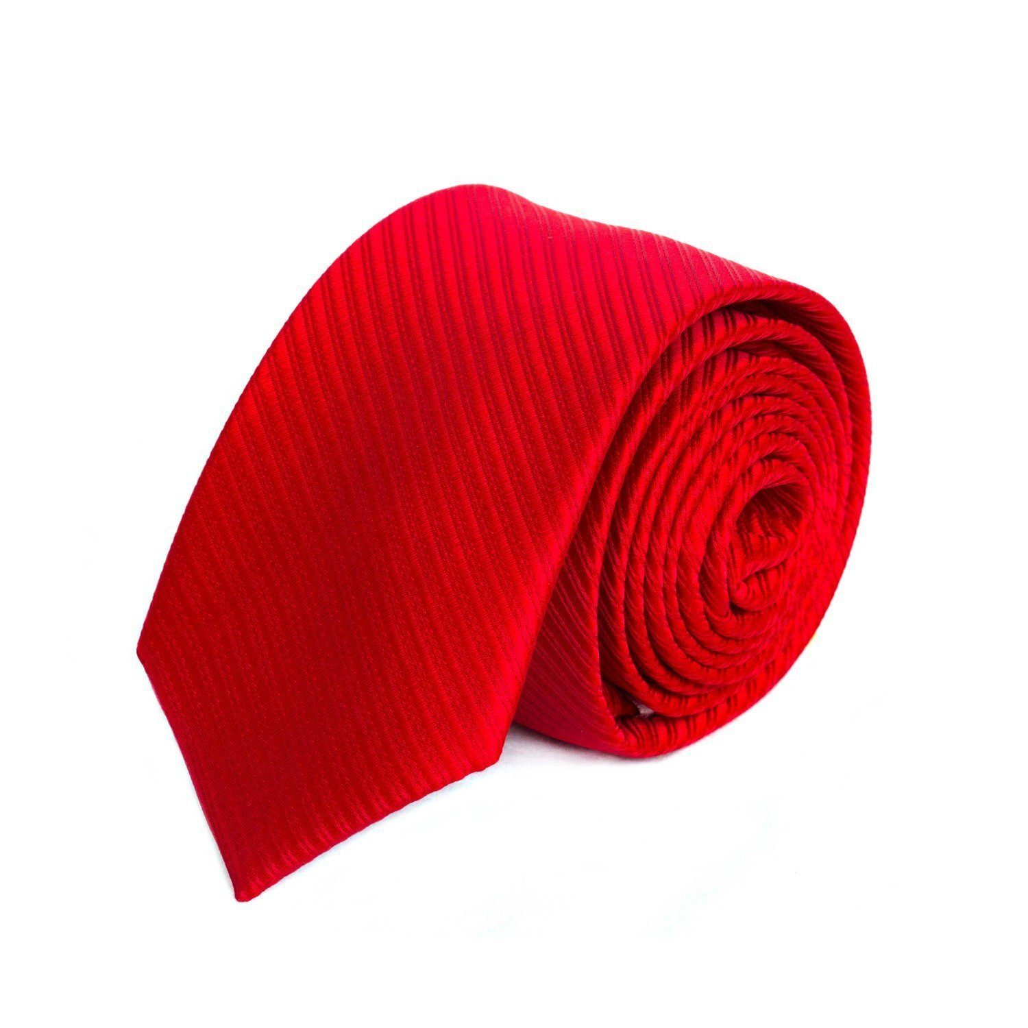 Bright Red Diagonal Textured MF Tie
