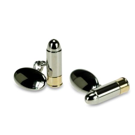 Bullet Cufflinks with chain, Novelty Cufflinks, Cuffed.com.au, ZBC1373, Career, Clinks Australia
