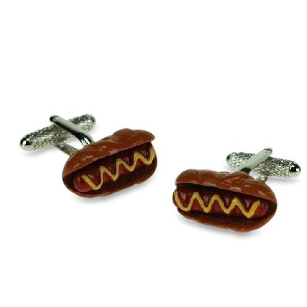 Hot Dog with mustard Cufflinks