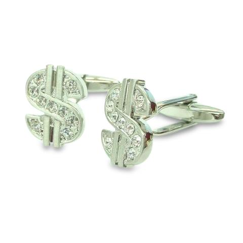 All that Glitters Dollar Cufflinks