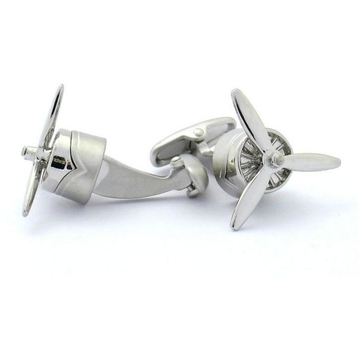 Aeroplane Propeller Cufflinks, Novelty Cufflinks, Cuffed.com.au, CL6820, Aviation, Clinks Australia
