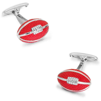 AFL Footy Red Leather Football Cufflinks Clinks Australia
