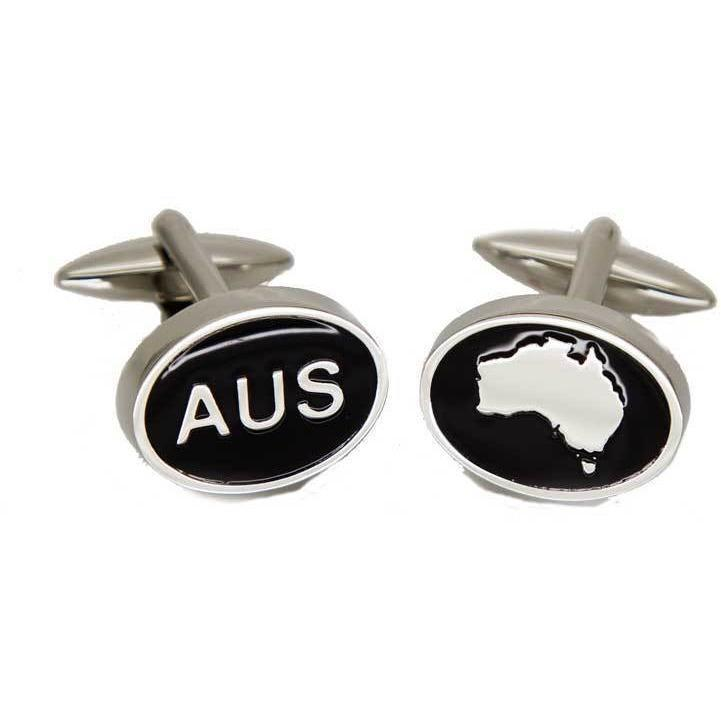 Australian Map and AUS Cufflinks, Novelty Cufflinks, Cuffed.com.au, CL8505, $29.00