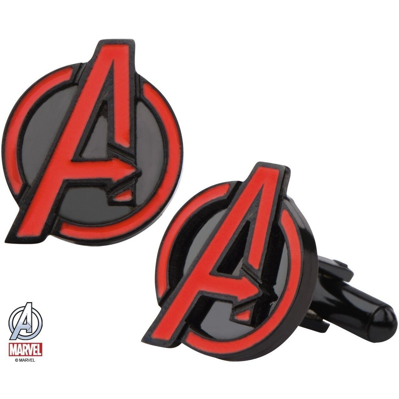 Avengers Insignia Red and Black Cufflinks, Novelty Cufflinks, Cuffed.com.au, CL5851, $65.00