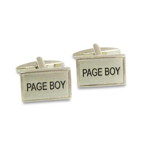 Page Boy Rectangle Cufflinks, Wedding Cufflinks, Cuffed.com.au, ZBC2330, $39.00