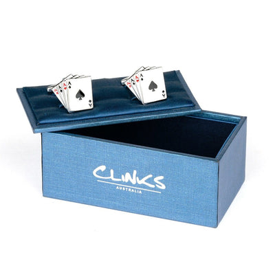 """Poker Ace"" Playing Cards Cufflinks , Novelty Cufflinks Clinks Australia , CL6200 , Mens Cufflinks , Cufflinks , Cuffed , Clinks"