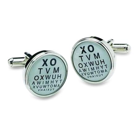 Eye Test Cufflinks Novelty Cufflinks Clinks Australia Eye Test Cufflinks