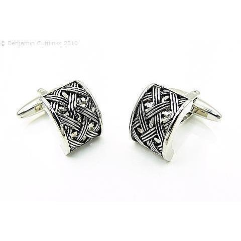 Basketweave Arch Cufflinks GTR
