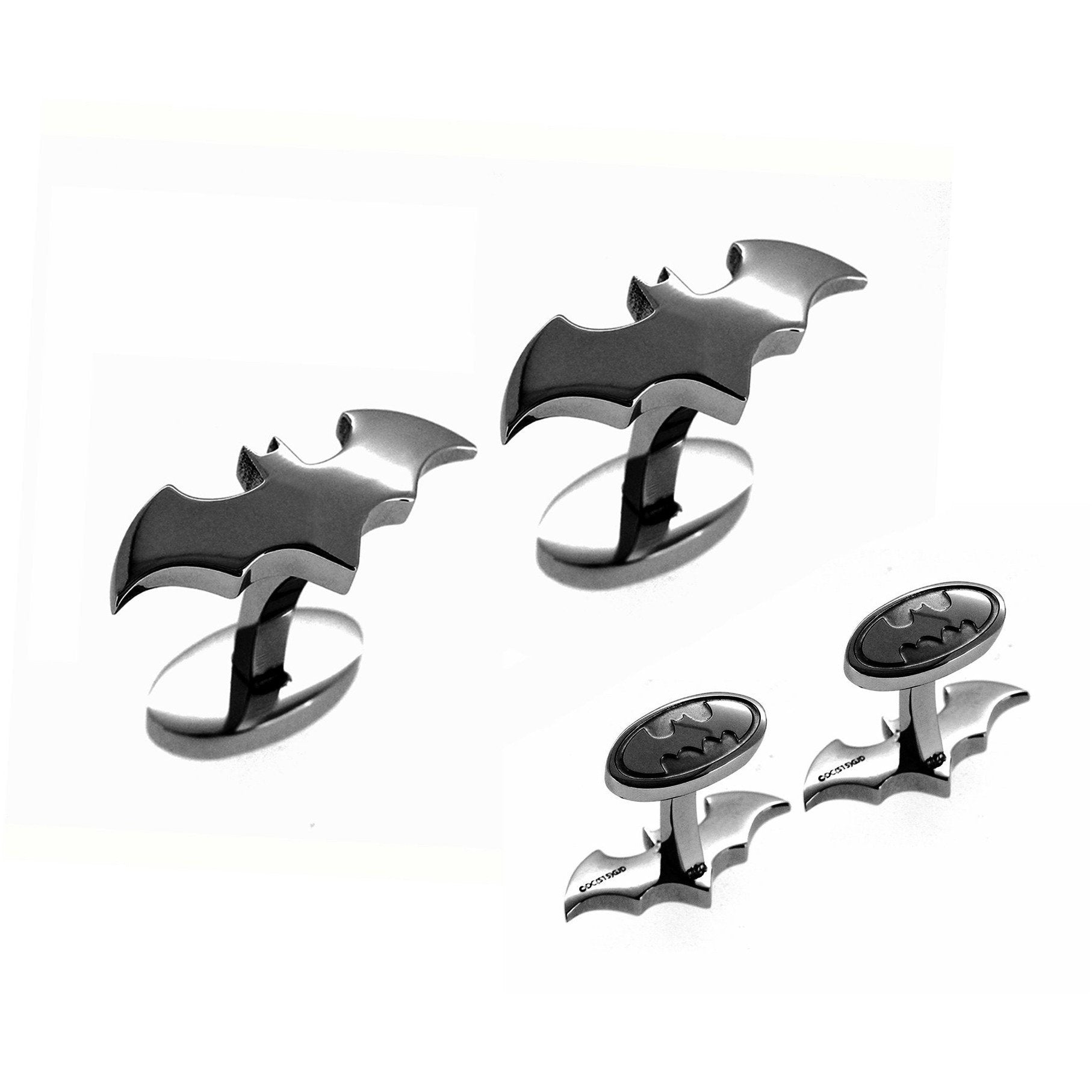 Batman Cufflinks Gunmetal, Novelty Cufflinks, Cuffed.com.au, CL5803, $65.00