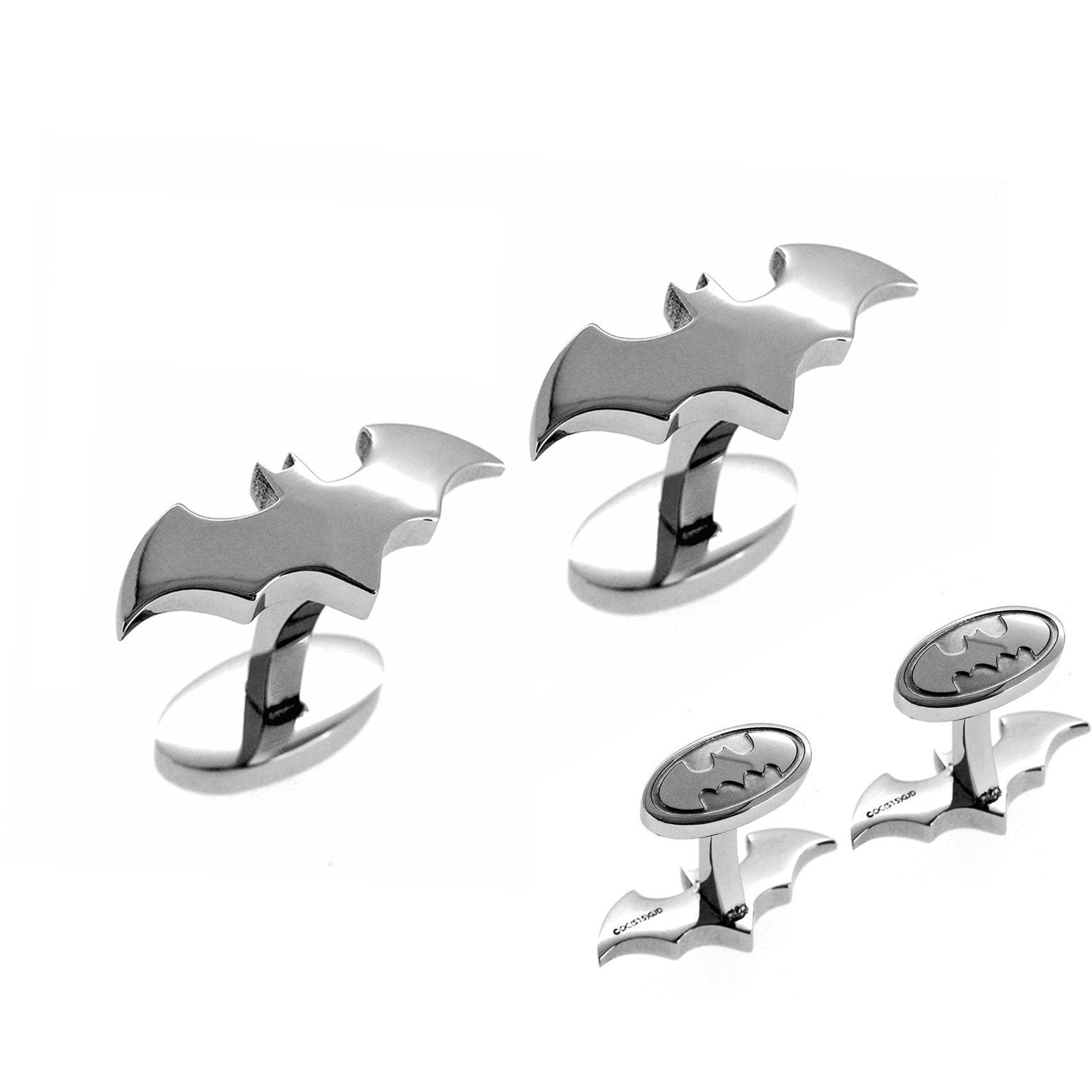 Batman Cufflinks Silver, Novelty Cufflinks, Cuffed.com.au, CL5802, $65.00