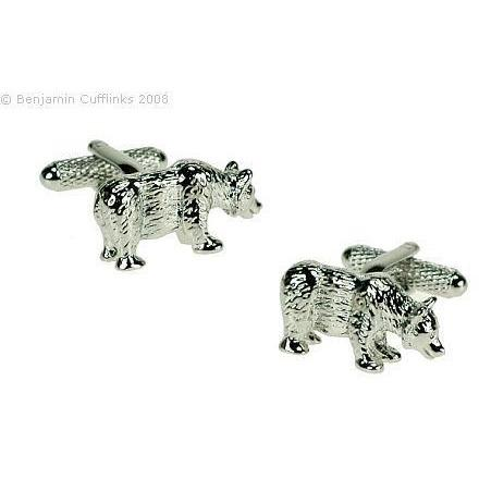 Bear Cufflinks, Novelty Cufflinks, Cuffed.com.au, ZBC1183, $39.00