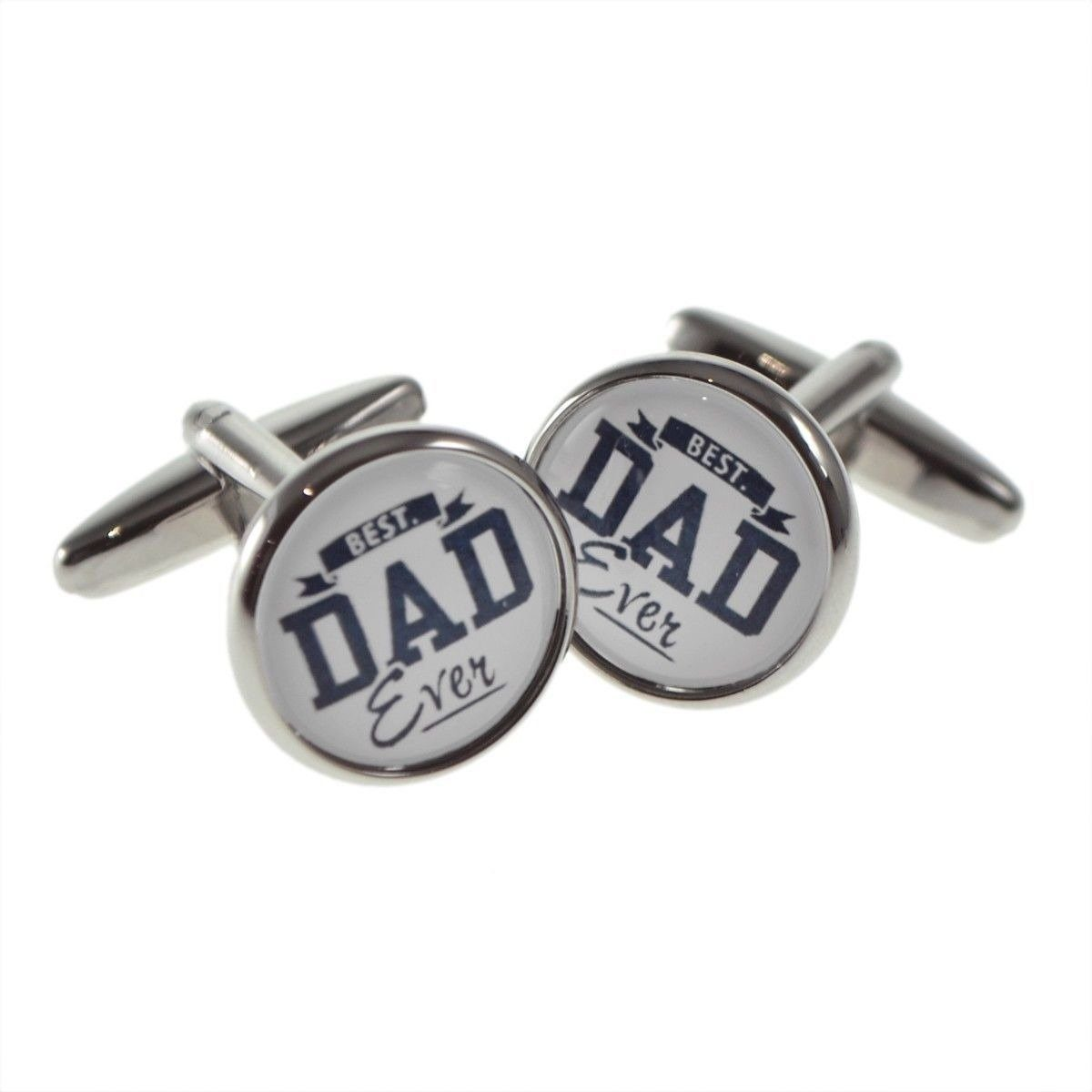 Best Dad Ever Round Cufflinks, Novelty Cufflinks, Cuffed.com.au, CL8445, $29.00