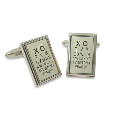 Eye Chart Cufflinks Novelty Cufflinks Clinks Australia Eye Chart Cufflinks