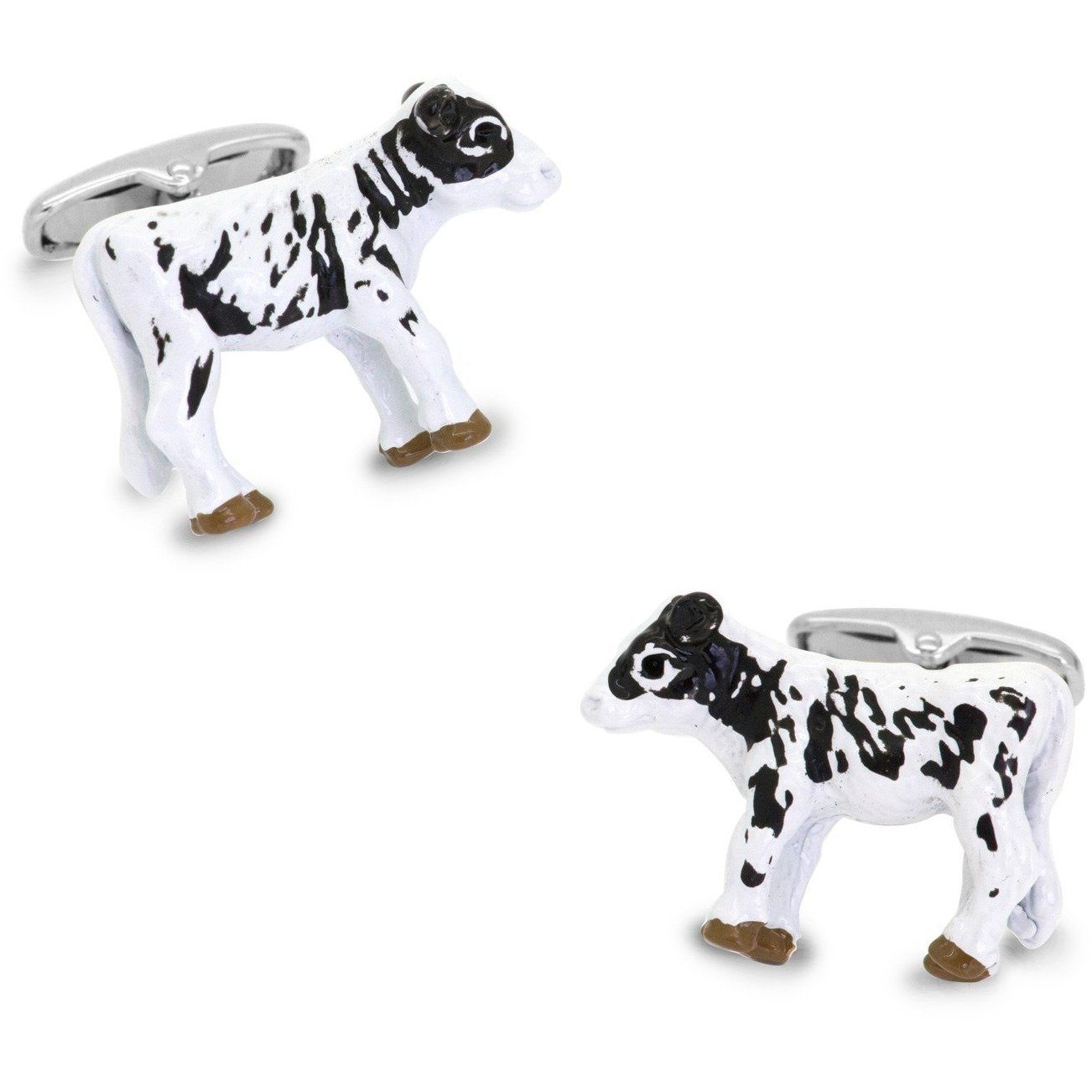 Black and White Cow Cufflinks 3D, Novelty Cufflinks, Cuffed.com.au, CL7080, $29.00