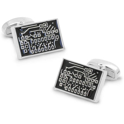 Black Circuit Board Cufflinks Clinks Australia